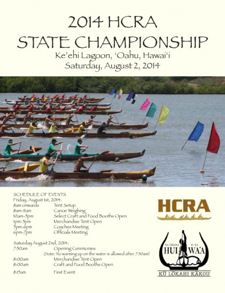 2014 Hawaii Canoe Racing Association State Championships Program