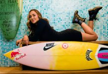 carissa moore surf board photo